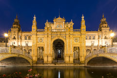 Architectural detail - plaza de espana Seville, Andalusia, Spain. Royalty Free Stock Photos