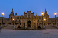 Architectural detail - plaza de espana Seville, Andalusia, Spain. royalty free stock photography