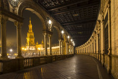 Architectural detail - plaza de espana Seville, Andalusia, Spain. royalty free stock image