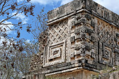 architectural detail of Puuc style Stock Images