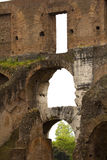 Architectural detail of the Roman Coliseum in Rome, Lazio, Italy. Stock Photos