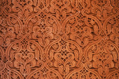 Architectural detail of Saadian tombs in Marrakech Royalty Free Stock Images