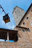 Architectural detail of San Gimignano Stock Photos