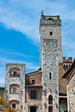 Architectural detail of San Gimignano Royalty Free Stock Images