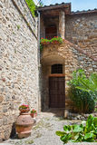 Architectural detail of San Gimignano Stock Images