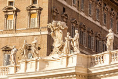 Architectural detail of San Pietro Square Stock Images