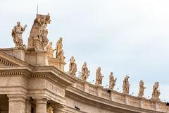 Architectural detail of San Pietro Square Royalty Free Stock Photo