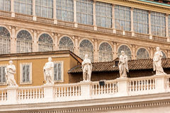 Architectural detail of San Pietro Square Stock Image