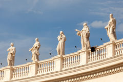 Architectural detail of San Pietro Square Royalty Free Stock Image