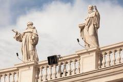 Architectural detail of San Pietro Square Stock Photo