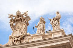 Architectural detail of San Pietro Square Stock Photography