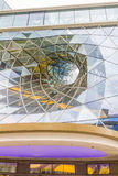 Architectural detail of a shopping mall in Frankfurt Stock Photography
