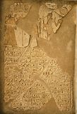 Hieroglyphic detail from the historic Abu Simbel temples in Egypt. Architectural detail showing a stone relief and hieroglyphics at the historic Abu Simbel stock photos