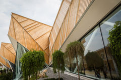 Architectural detail of Slovenia pavilion at Expo 2015 in Milan, Royalty Free Stock Images