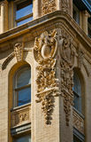 Architectural detail of a Soho building facade, Ne Royalty Free Stock Images