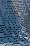 Architectural detail Soumaya museum. MEXICO CITY,MEXICO-SEPTEMBER 20,2016: Architectural detail of the soumaya museum, an iconic building , landmark of mexico Stock Image