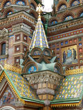 Architectural detail of St. Basil cathedral. Architectural detail and closeup of St. Basil cathedral, Moscow Royalty Free Stock Images