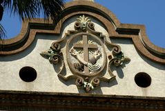 Architectural detail from St. Francis Church. Royalty Free Stock Images
