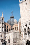 Architectural detail of St Mark Square, Venice Stock Photos