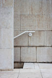 Architectural detail of a stair. With white handrail Royalty Free Stock Photography