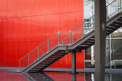 Architectural detail of a steel staircase Royalty Free Stock Photos