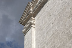 Architectural detail. Stone made architectural detail on church Stock Image
