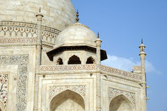 Architectural detail. Taj Mahal, India. Royalty Free Stock Images