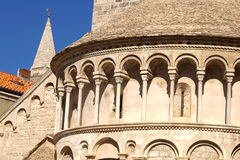 Architectural detail  of a Temple. Zadar, Croatia Royalty Free Stock Photo
