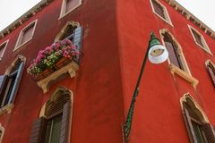 Architectural detail of traditional house in Venice, Italy. Background, wallpaper royalty free stock photo