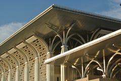 Architectural detail at Tuanku Mizan Zainal Abidin Mosque in Putrajaya Royalty Free Stock Photo