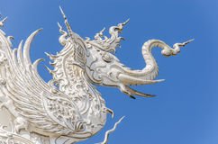 Architectural detail of Wat Rong Khun temple in Chiang Rai, Thailand Royalty Free Stock Images