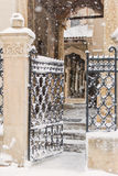 Architectural detail in a winter day Royalty Free Stock Photography