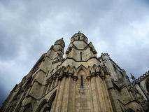 Architectural detail York Minster. Architectural detail of York Minster York England against a grey sky Stock Photography