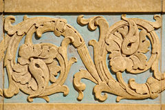 Architectural details. Stucco molding for background or wallpaper stock photography