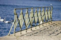 Architectural details. Vltava enbankment, Prague, Czech Republic royalty free stock images