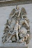 Architectural details of the Arc de Triomphe de l'Etoile, Paris, France Royalty Free Stock Photos