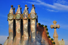 Architectural details in Barcelona Royalty Free Stock Image