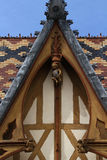 Architectural details in Beaune Royalty Free Stock Photos