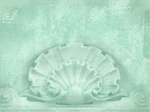 Architectural details. Blank for flyers, messages, business cards, posters, etc. in shabby chic style. Art deco figures carved on Royalty Free Stock Photo