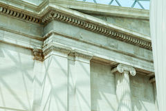 Architectural details in British Museum, London Royalty Free Stock Photography