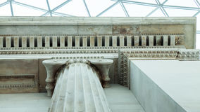 Architectural details in British Museum, London Stock Photo