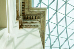 Architectural details in British Museum, London Royalty Free Stock Images