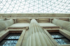 Architectural details in British Museum, London Stock Image