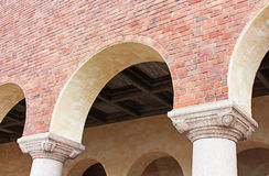 Architectural details of the building of a City Hall. Stockholm, Sweden stock photography