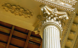Architectural details of a Building replica of old and ancient palaces type of construction Stock Photography