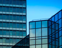 Architectural details of business buildings, Frankfurt, Germany Stock Photography
