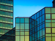 Architectural details of business buildings, Frankfurt, Germany Stock Images