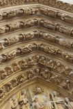 Architectural details of Cathedral Notre Dame de Royalty Free Stock Images