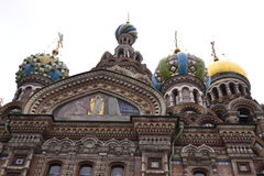 Architectural details of the Cathedral of the Savior on Spilled Blood Stock Image