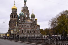 Architectural details of the Cathedral of the Savior on Spilled Blood Royalty Free Stock Image